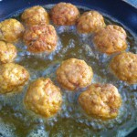 albondigas al curry fritas