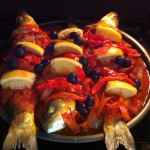 lubina al horno con salsa de tomate