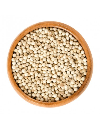 Pimienta blanca en grano
