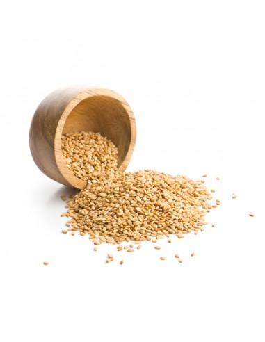 Semillas de sésamo dorado ajonjoli